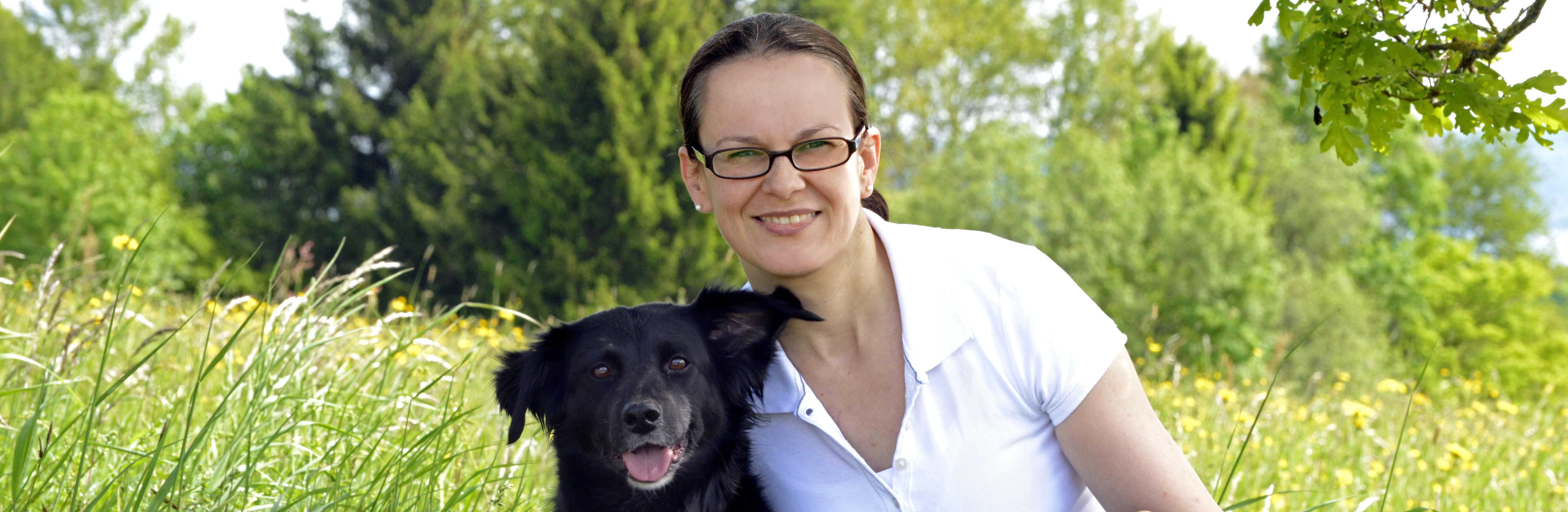 Manuela Morche mit Hund Leni